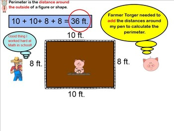Perimeter Pig SMARTBoard Lesson with Printables