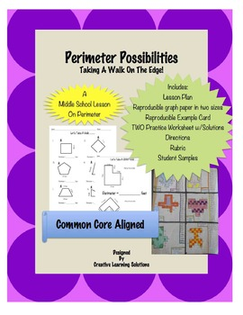 Perimeter Possibilites; A Middle School Lesson/Project on Perimeter