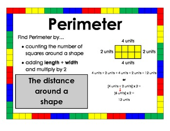 perimeter poster by created by morgan teachers pay teachers
