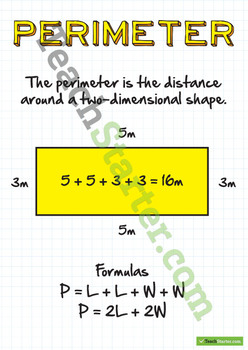 Perimeter Poster and Two Worksheets