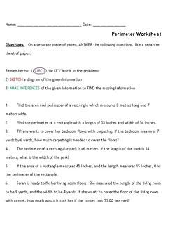 Perimeter Practice Worksheet