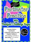 Perimeter Practice: Grade level, Modified, and Challenge 3