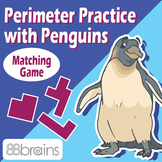 Perimeter Practice with Penguins - Matching Game (CCSS)