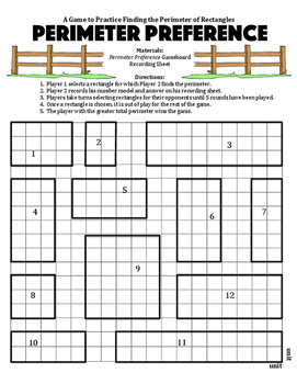 Perimeter Preference - A Game to Practice Finding the Perimeter of Rectangles
