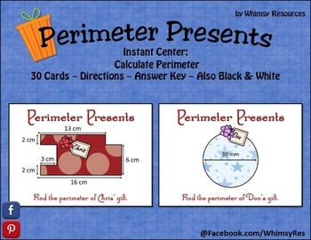 Perimeter Presents - Geometry - Math Center - Christmas Holiday