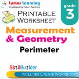 Perimeter Printable Worksheet, Grade 3