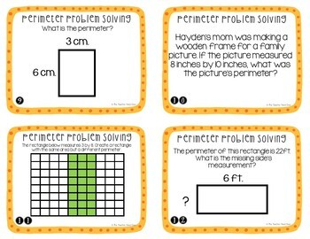 Perimeter Problem Solving Task Cards for 3rd Grade