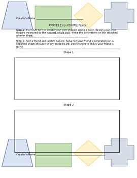 Perimeter Project! Perfect for Centers, Small-Group or Whole Group!
