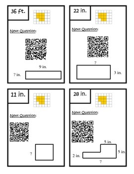 Perimeter QR Code Scavenger Hunt 3.MD.8 Third Grade Common Core Math