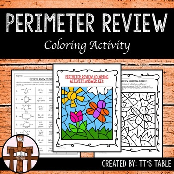 Perimeter Review Coloring Activity