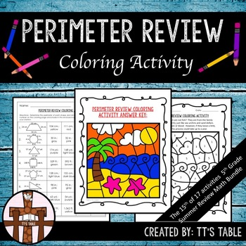 Perimeter Review Coloring Activity