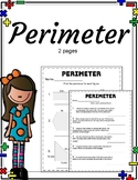 Perimeter Review. Math. No Prep. Printable.