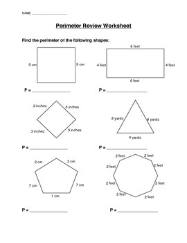 Perimeter Review Worksheet