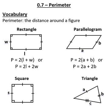 Perimeter Review and Algebraic Perimeter Qs