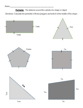Perimeter Story Problems (Basic)