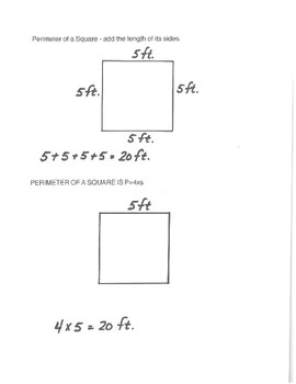 Perimeter Study Guide