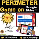 Perimeter Superheroes Game on Google Slides - Distance Learning