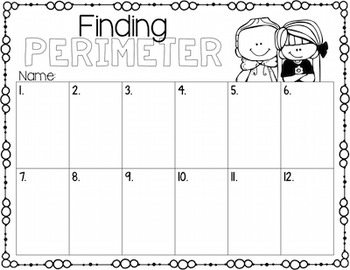 Perimeter Task Cards for Centers, Review, Scoot, & Test Prep