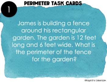 Perimeter Task Cards: Word Problems