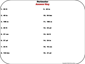 Finding the Perimeter Task Cards/ Finding the Perimeter Activity/ Perimeter Quiz