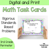 Third Grade Perimeter Task Cards and Google Classroom Slides No Prep