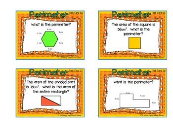 Perimeter Task Cards:  Deeper Levels of Understanding