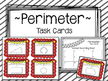 Perimeter Task Cards. Finding the Perimeter of a shape.