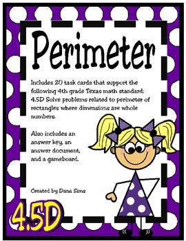 Perimeter Task Cards (TEKS 4.5D) STAAR Practice