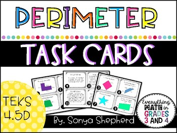 Perimeter Task Cards - TEKS 4.5D
