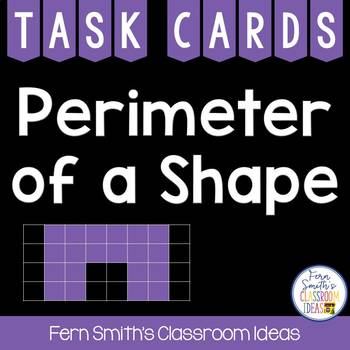 Perimeter Task Cards for Perimeter of Shapes