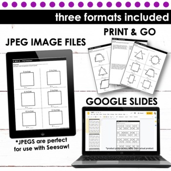 Perimeter - Third Grade Print and Go