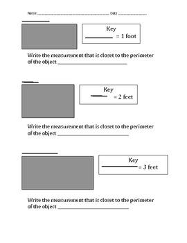 Perimeter - Using A Key - Va SOL & Common Core