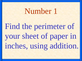 Perimeter: Using all 4 Operations and Handout, Math PowerPoint