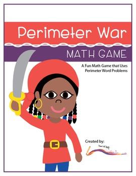 Perimeter Word Problems – Perimeter War Math Game – Common Core Aligned