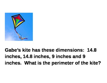 Perimeter Word Problems ~ Great for centers