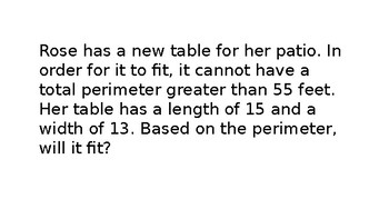 Perimeter Word Problems Multi Step Review