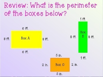 Perimeter of Rectangles Word  Problems Power Point
