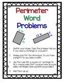 Perimeter Word Problems Worksheet