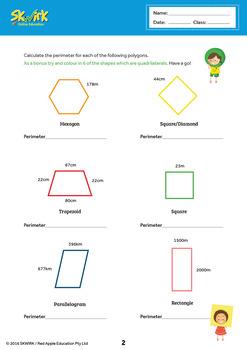 Perimeters of Polygons Worksheet ACMMG041