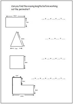 Perimeter Worksheets