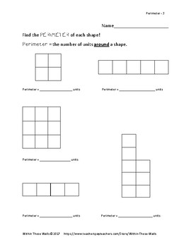 Perimeter Worksheets