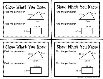 Perimeter Don't Get ZAPPED Math Game