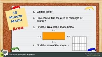 Perimeter and Additive Area