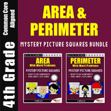 Area And Perimeter Word Problems 4th Grade Math Packet Mystery Pictures