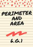 Perimeter and Area  6.G.1