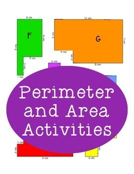 Perimeter and Area Activities, Worksheet, Centimeters, Geometry Shapes