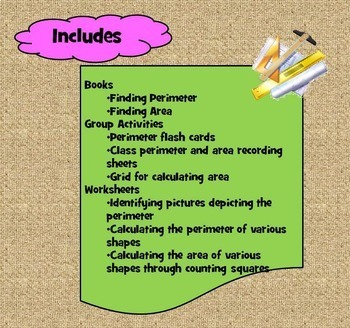 Perimeter and Area Activities for Special Education