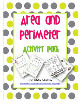 Perimeter and Area Activity Pack {3.MD.7,8}