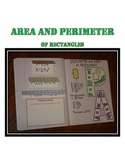 Perimeter and Area Activity for Interactive Notebook