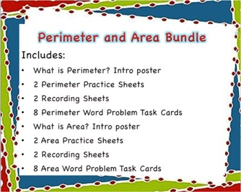 Perimeter and Area Bundle